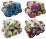 Strickwolle braun beige 1815 250 Gramm Wolle aus 100/% Baumwolle Alize Bella 5 x 50 Gramm Baumwolle Mehrfarbig mit Farbverlauf